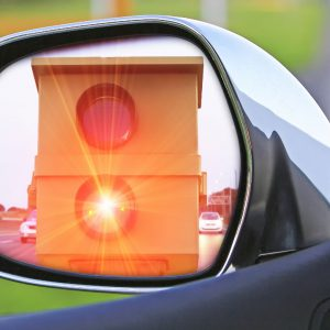 Blitzer im Rückspiegel
